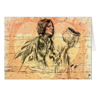 Cartão do nativo americano.  Harrison Fisher