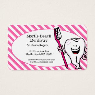 Cartão do negócio e da nomeação do dentista cartão de visita