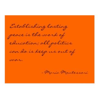 Cartão do no. 3 das citações de Maria Montessori