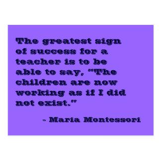 Cartão do no. 5 das citações de Maria Montessori