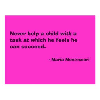 Cartão do no. 6 das citações de Maria Montessori