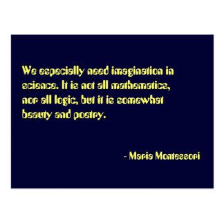 Cartão do no. 7 das citações de Maria Montessori