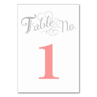 Cartão do número da mesa de Love Story
