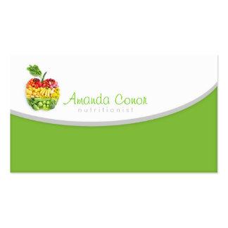 Cartão do nutricionista de Minimalistic/treinador  Cartão De Visita
