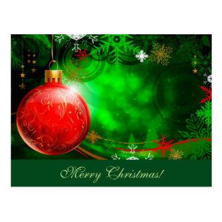 Cartão do ornamento do Feliz Natal Cartão Postal