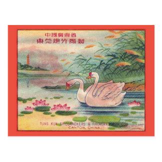 Cartão do pacote do foguete do vintage cartão postal