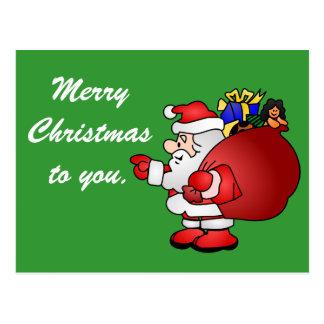 Cartão do papai noel do Feliz Natal