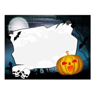 Cartão do partido do Dia das Bruxas Cartão Postal