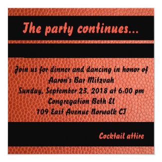 Cartão do partido para a coleção de Mitzvah do bar Convite Quadrado 13.35 X 13.35cm