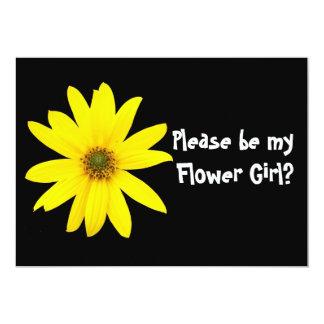 Cartão do pedido do florista do girassol convite 12.7 x 17.78cm