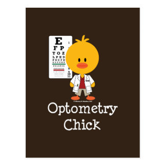 Cartão do pintinho da optometria