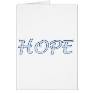 Cartão do poema da esperança