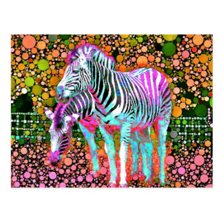 Cartão do pop art da zebra