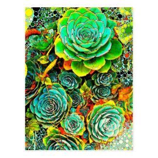 Cartão do pop art do jardim do Succulent