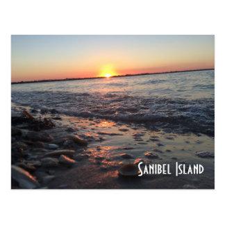Cartão do por do sol da ilha de Sanibel
