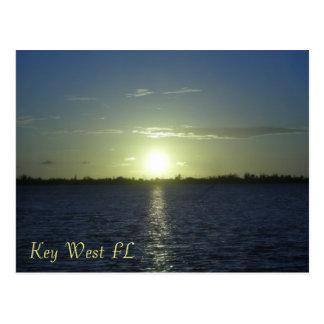Cartão do por do sol de Key West FL Cartão Postal