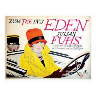Cartão do poster do anúncio do vintage cartão postal