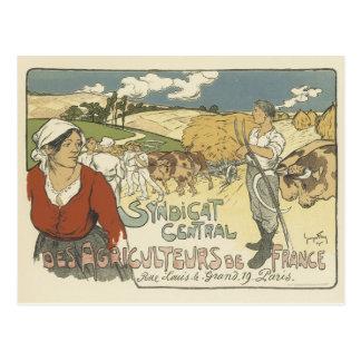 Cartão do poster vintage - fazendeiros cartao postal