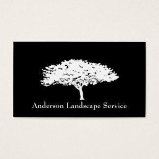 Cartão do preto da remoção da árvore da paisagem