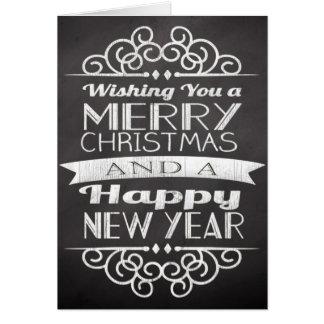 Cartão do Promo do Feliz Natal do quadro do