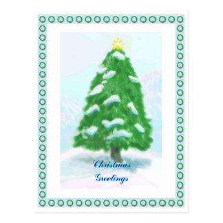 Cartão do quadro da grinalda do Natal Cartões Postais