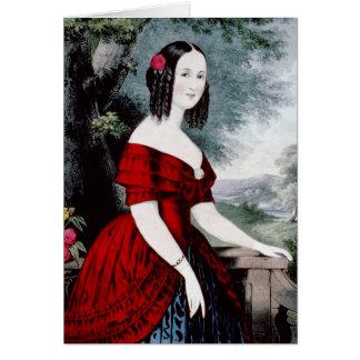 Cartão do retrato de Cornelia do vintage do KRW