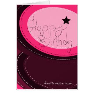 Cartão do rosa do feliz aniversario