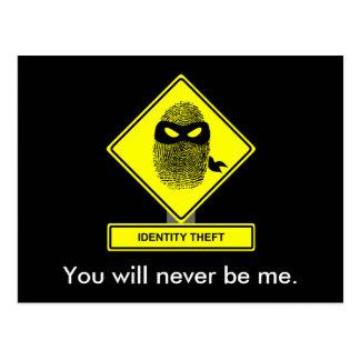 Cartão do roubo de identidade