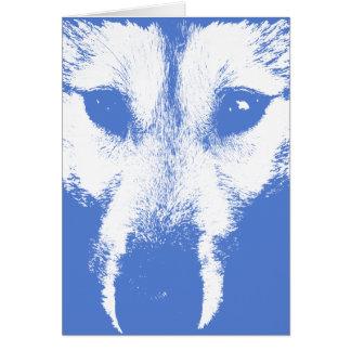 Cartão do rouco Siberian/cartão Malamute do Alasca
