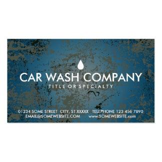 cartão do selo do lavagem de carros cartão de visita