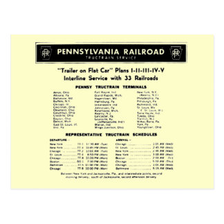 Cartão do serviço de TrucTrain da estrada de ferro Cartão Postal