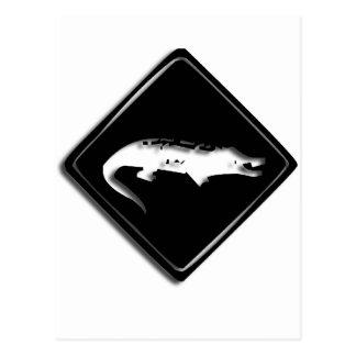 Cartão do sinal do crocodilo de Croco