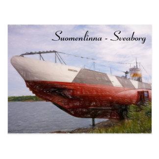 Cartão do submarino de Suomenlinna Vesikko