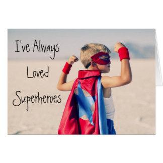 Cartão do super-herói do dia dos pais