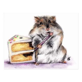 Cartão do tempo do aniversário (hamster) clarament cartões postais