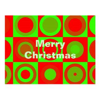 Cartão do teste padrão do Feliz Natal Cartão Postal
