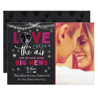Cartão do ultra-som do anúncio da gravidez dos