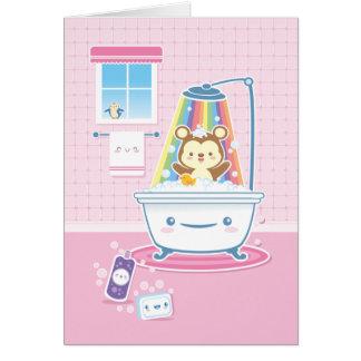 Cartão do urso de Bathtime