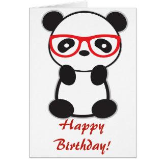 Cartão do urso de panda