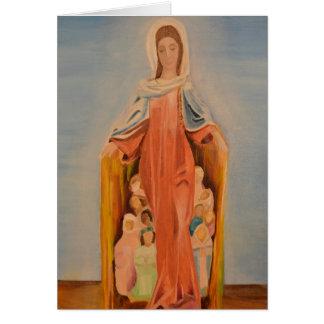 Cartão do vazio da proteção de Mary