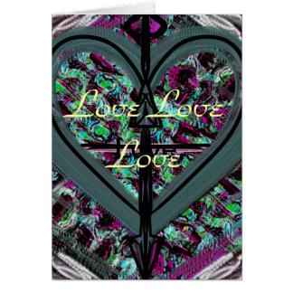 Cartão do vazio do amor do amor do amor