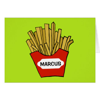 Cartão do vazio do costume das batatas fritas