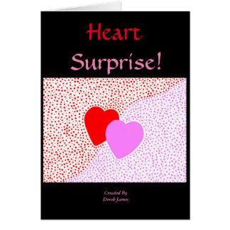 Cartão do vertical da surpresa do coração
