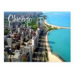 Cartão do viagem de Chicago Illinois da vista aére Cartao Postal