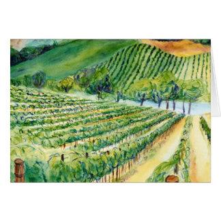 Cartão do vinhedo de Califórnia