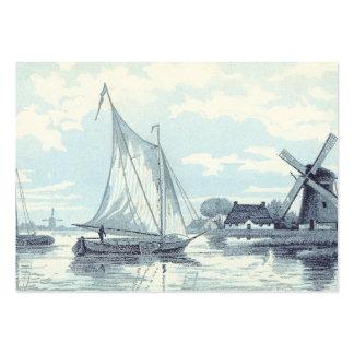 Cartão do vintage de uma cena em Holland Cartão De Visita Grande