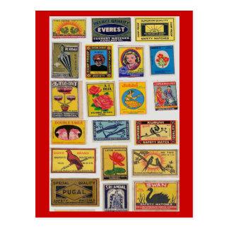 Cartão do vintage dos fósforos de segurança #35