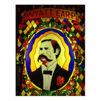 Cartão do vitral de Wyatt Earp