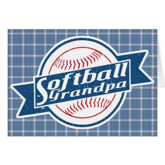 Cartão do vovô do softball
