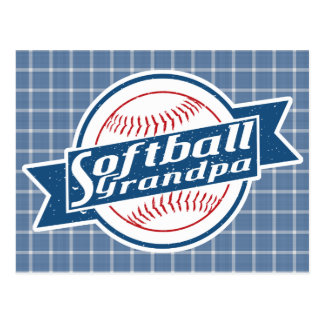 Cartão do vovô do softball cartão postal